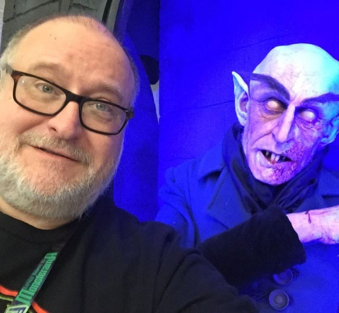 Darrell with Nosferatu at Monsterama 2019